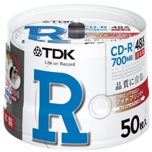 TDK CD-R 700MB 48X   50 